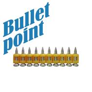 Усиленные дюбель-гвозди Bullet-Point 3,05x17 тип CN по бетону, металлу, кирпичу