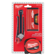 Промо набор Milwaukee рулетка 5м SLIM + нож 18мм + уровень minbox 4932471129