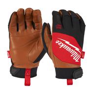 Перчатки защитные с кожаными вставками Milwaukee