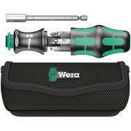 Набор бит с рукояткой-битодержателем WERA Kraftform Kompakt 28 с сумкой,  6 предметов WE-134491