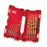 Набор сверл по металлу Milwaukee Shockwave HSS-G Tin Red Hex 10шт. 48894759