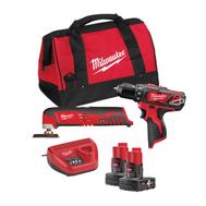 Набор аккумуляторного инструмента Milwaukee M12 BPP2D-402B 4933441250