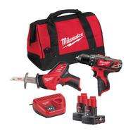 Набор аккумуляторного инструмента Milwaukee M12 BPP2C-402B 4933441230
