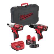 Набор аккумуляторного инструмента Milwaukee M12 BPP2B-421C 4933443497