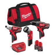 Набор аккумуляторного инструмента Milwaukee M12 BPP3A-202B 4933441225